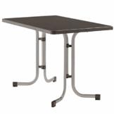 Sieger 233/A Boulevard-Klapptisch mit mecalit-Pro-Platte 115 x 70 cm, Stahlrohrgestell graphit, Tischplatte Schieferdekor anthrazit - 1