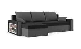 Sofini Ecksofa Drive mit Schlaffunktion! Best Ecksofa! Couch mit Bettkasten und Regalfächer! (Haiti 17+ Haiti 14) - 1