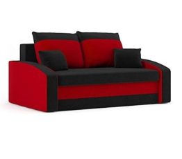 Sofini Sofa Hewlet mit Schlaffunktion! Best Sofa! 2- Sitzer Sofa! (Haiti 17+ Haiti 18) - 1