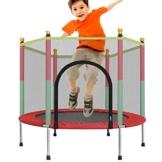 Sports Trampolin Kinder, Gartentrampolin Indoor Kindertrampolin Outdoor Trampolin Mit Sicherheitsnetz Und Randabdeckung Kinder Zum Spielen Abprallen Freisetzen Von Kindernergie - 1