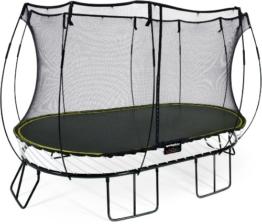 Springfree Trampolin O92 - Large Oval 240 cm x 400 cm Reine Sprungfläche (entspricht 300 cm x 460 cm) inkl. Netz - 1