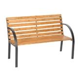 "TecTake Gartenbank Parkbank Holz - Diverse Modelle - (""Micha"" 119,5 x 62 x 83cm | Nr. 401425) - 1"