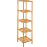 TecTake Standregal Haushaltsregal Badregal Holz - Diverse Modelle - (5 Böden   33x33x141 cm   Nr. 401646) - 1