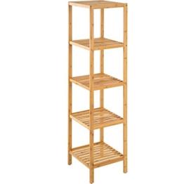 TecTake Standregal Haushaltsregal Badregal Holz - Diverse Modelle - (5 Böden | 33x33x141 cm | Nr. 401646) - 1