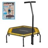 Ultrasport Fitness Trampolin, stabiler Haltegriff und Gummiseilfederung für höchste Sicherheit im Sprung; Ideales Indoor Sport-Gerät für zuhause, Jumping Fitness in: Gelb (soft) mit DVD - 1