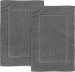 Utopia Towels - 2er Pack groß Badematte Badvorleger, 985 g/m² - 100% Baumwolle Frottee -Waschbare Badteppich (53 x 86 cm) (Grau) - 1