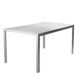 Vanage VG-5159 Polywood Aluminium Gartentisch, 150x90cm, Silber - 1
