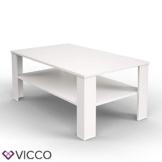 Vicco Couchtisch Weiß 100 x 60 cm Wohnzimmertisch Beistelltisch Sofatisch Kaffeetisch - 1