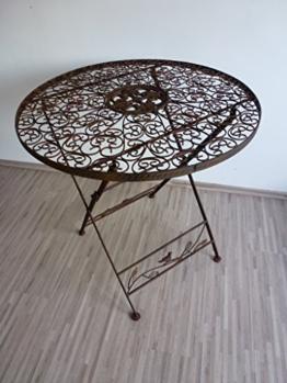 Ziegler Gartentisch Klapptisch Metalltisch Tisch Metall rund 70 cm WK070828 - 1