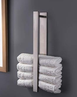 ZUNTO Handtuchhalter Ohne Bohren Gästehandtuchhalter Edelstahl Handtuchstange Selbstklebend 40 cm - 1